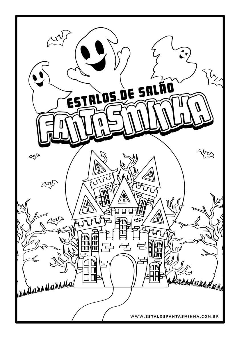 Desenho Castelo Assombrado Estalos Fanstaminha